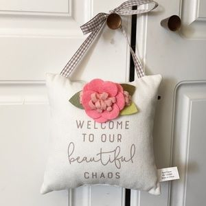 welcome pillow door hanger